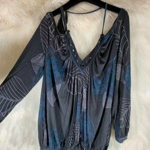 Free People Grey Open Back Cut Out Size Small Eyel